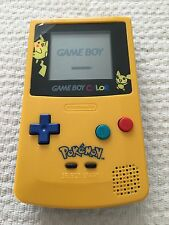 Nintendo Game Boy Color Pokemon Pikachu Limitada Edition Amarillo sistema portátil