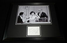 Betty White & Allen Ludden Dual Signed Framed 11x14 Photo Display