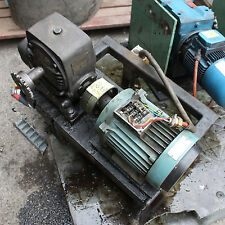 ABB 3 PHASE MT199LB28-4 4 POLE ELECTRIC MOTOR 1430rpm  REYNOLD 12,5:1 Gear Box