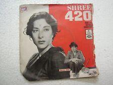 SHREE 420 SHANKAR JAIKISHAN EMOE 2141 1971 RARE BOLLYWOOD EP 45 rpm RECORD vg+
