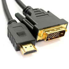 Dvi-d 24 +1 Pin Macho A Hdmi Digital Lead Cable Oro 1m