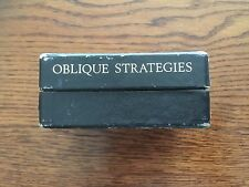 Original 1975 1st Edition of 500! Brian Eno Signed Oblique Strategies Card Deck