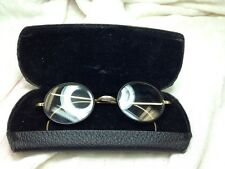 ANTIQUE GOLD WIRE FRAMED GLASSES WITH CASE B&L OLD Belgian Lomb