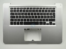 "USED Top Case Spanish Keyboard No Trackpad for Macbook Pro 15"" A1286 2011"