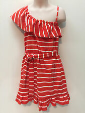Gap Kids Spring Summer Orange Stripes Cotton Dress Size XS 6-7 New