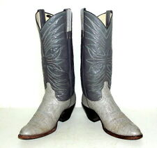 Womens Cowboy Boots 5.5 C Gray Vintage Country Western Boho Grey Wide Width