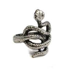Silver Metal Snake Knot Ring - Gothic Biker Rock Punk- Cobra Slytherin SKR 65