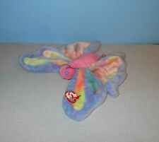"Ty Beanie Buddies ""Flitter"" Pink Pastel Colors Butterfly Soft Bean Plush Animal"