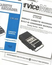 2 SERVICE Owner Manuals REALISTIC Radio Shack Cassette Recorder CTR-40B 14-818