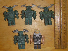 Mega Bloks Dragon Wars Knights figure LOT of 5 FIGURES green etc