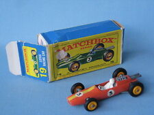 Lesney Matchbox 19D Lotus Racing Car Orange Body Boxed Toy Model Car 1960's