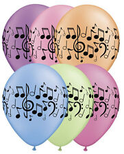 "10 pc 11"" Neon Music Note Latex Balloons Happy Birthday Party Decor Band School"