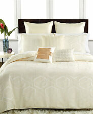 Hotel Collection Bedding Verve FULL/QUEEN Duvet Cover IVORY MSRP $310 B741