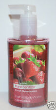 NEW BATH & BODY WORKS FRESH STRAWBERRIES ANTI BACTERIAL HAND SANITIZER GEL LARGE