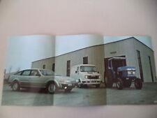 POSTER ANNO 1979 - LEYLAND FURGONE SHERPA / TRATTORE 272
