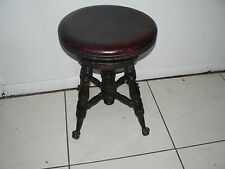Antique Vintage Claw Foot Stool Victorian Style Piano Stool Wood Glass