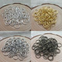 300/2000Pcs Bronze, Black,Copper,Gold & SILVER PLATED Metal JUMP RINGS 4/6/8mm