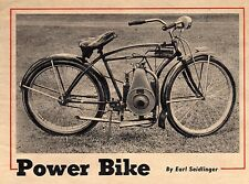 1949 PLANS TO MOTORIZEA BIKE BICYCLE ENGINE GAS MOTOR POWERED