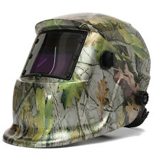 Forest Camo Adjustable Auto Darkening Solar Powered Welding Helmet Welders Mask