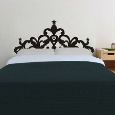 Bed Headboard Crown Wall Sticker Star Vinyl Room Home Art Mural Decor King Size