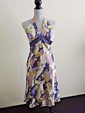 Laundry by Shelli Segal Halter Dress Silk Silhouette Evening NWT sz 2 MSRP $215