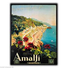 Letrero de metal placa de pared Costa de Amalfi Italia Retro Vintage Cartel Anuncio de impresión