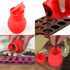 Silicone Practical Red Chocolate Melting Pot Mould Baking Pouring Tool