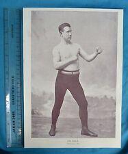 Original 1894 Antique Print Portrait Gallery Of Pugilists Jim Daly Boxer