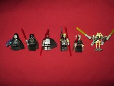LEGO Star Wars minifigures LOT Darth Vader, Darth Maul,Dooku,Grievous,Savage