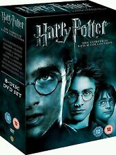 Harry Potter 1-8 Complete Collection Movie Films DVD Box Set New UK