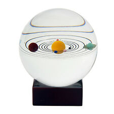 Solar System Crystal Ball Galaxy 8 Planets Desktop Decor Gift & Wooden Stand Kid