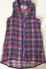 NWT Justice Plaid Patterned Back Tunic Top 10