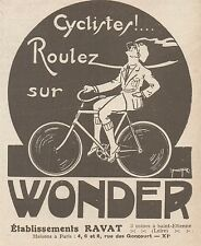 Z9614 Cycles WONDER - Etab. Ravat -  Pubblicità d'epoca - 1924 Old advertising