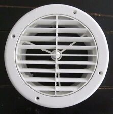 "7"" Round WHITE Ceiling A/C Vent 2"" Extension Used in Newmar Other RV Motorhome"
