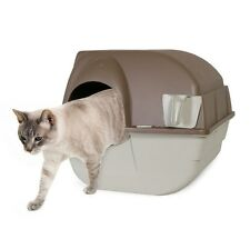 Easy SELF CLEANING Automatic Cat Toilet Litter Box Odor Container Kitty House