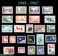 SUPERFLEAS Canada 1965 1966 1967 Year Set MNH stamps w/ High rate Centennials