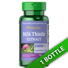 Puritan's Pride Milk Thistle 4:1 Extract 1000 mg  90 Caps (Silybum marianum)