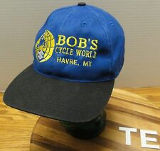 BOB'S CYCLE WORLD HAVRE MONTANA HAT ADJUSTABLE IN VERY GOOD CONDITION