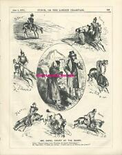 1876 Punch Cartoon Capel Court at the Derby Gypsy Fortune Teller