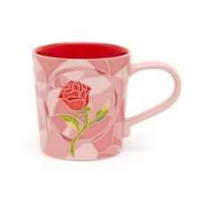 NEW DISNEY STORE ENCHANTED ROSE ART OF BELLE BEAUTY AND THE BEAST MUG CUP