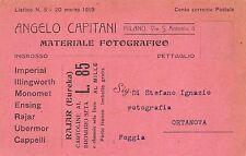 C4426) MILANO, ANGELO CAPITANI MATERIALE FOTOGRAFICO E VENDITA CARTOLINE.