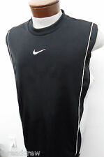 NIKE black sleeveless dry-fit basketball tank shirt- L mens casual running#4535