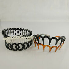 5PCS Set New Women Elastic Plastic Toothed Hairband Sharks Tooth Zigzag Headband