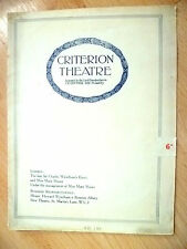 Criterion Theatre Programme- M Moore & S Thorndike's ADVERTISING APRIL~H Farjeon