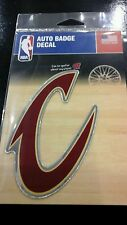 """CLEVELAND CAVALIERS MIRRORED AUTO BADGE CAR EMBLEM DECAL 3""""×5"""" NEW!"""