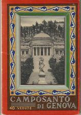 Leporello con 40 vedute del Camposanto di Genova Genova, 1930-50