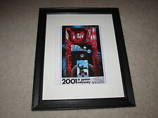 "Framed 2001 A Space Odyssey Mini Poster, Alternate USA 1968 14""x17"", Beautiful!"