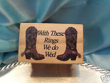 Western Wedding Ring Bearer Pillow WOOD Box Redneck Burlap Cowboy Boot Country