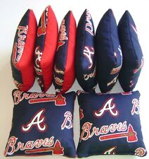 ATLANTA BRAVES CORNHOLE BEAN BAGS SET OF 8 TOP QUALITY TOSS GAME
