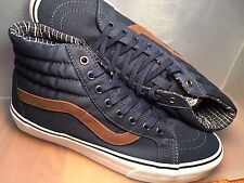 VANS New Sk8 Hi Reissue Cord/Plaid Vault Size USA 9 UK 8.5 EUR 42